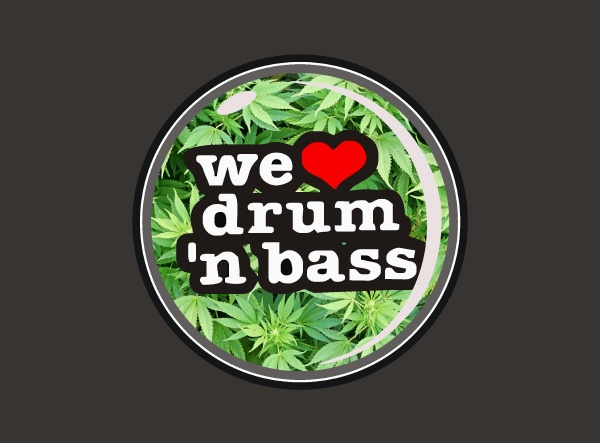 Odznak We Love Drum 'n' Bass