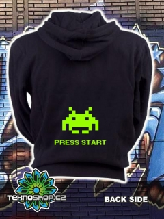 Mikina zip Space Invaders